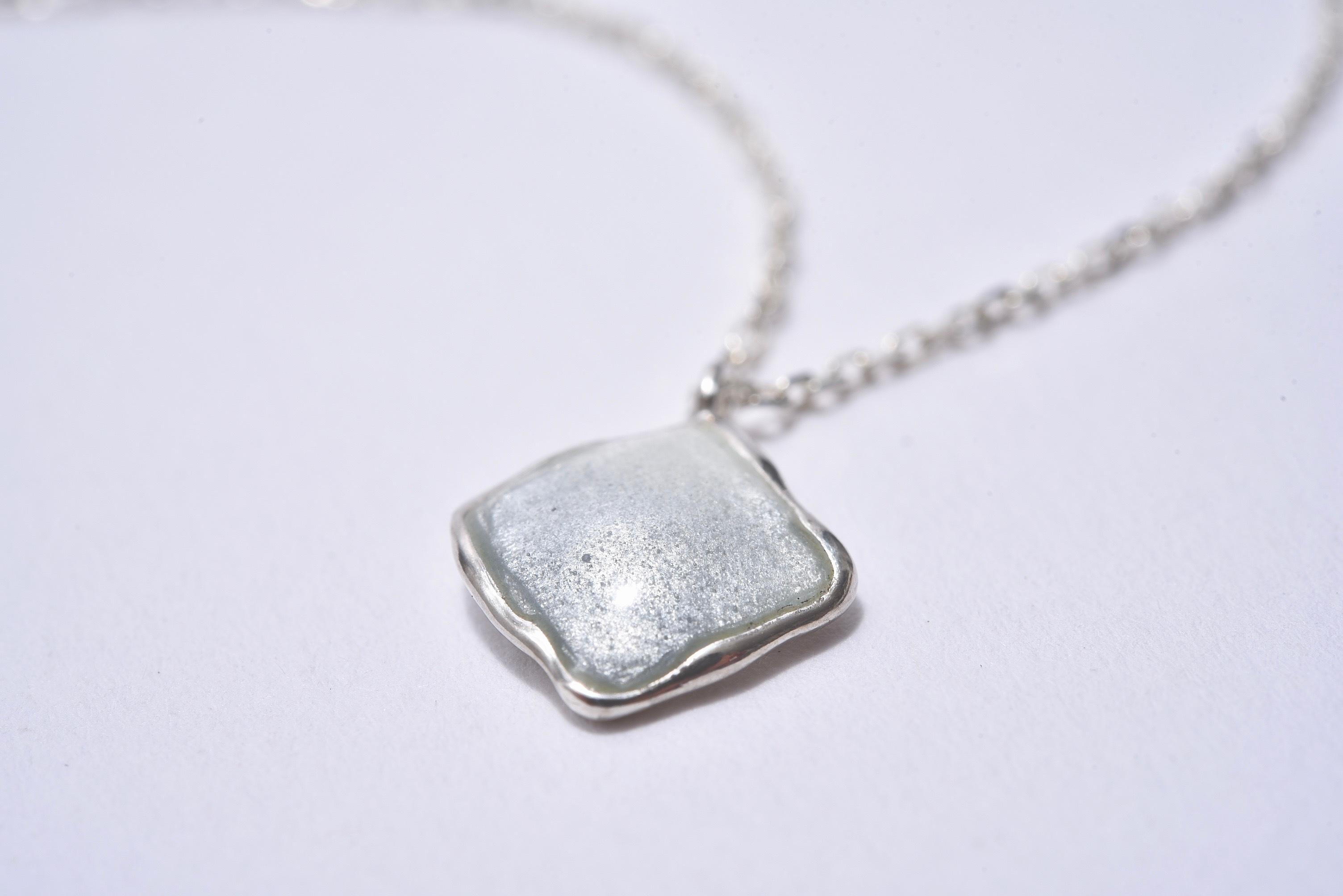 七宝ネックレス-ニュアンスカラー○グレー/silver925