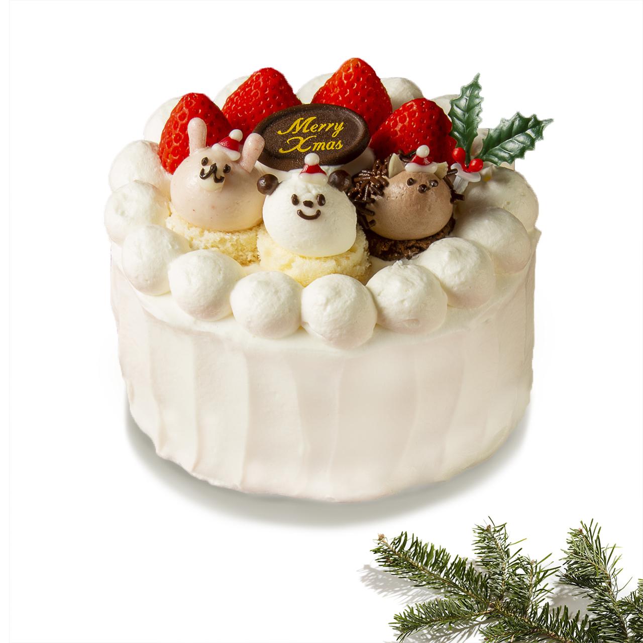 【クリスマス予約販売】店頭受取:苺のショートケーキ(4号)