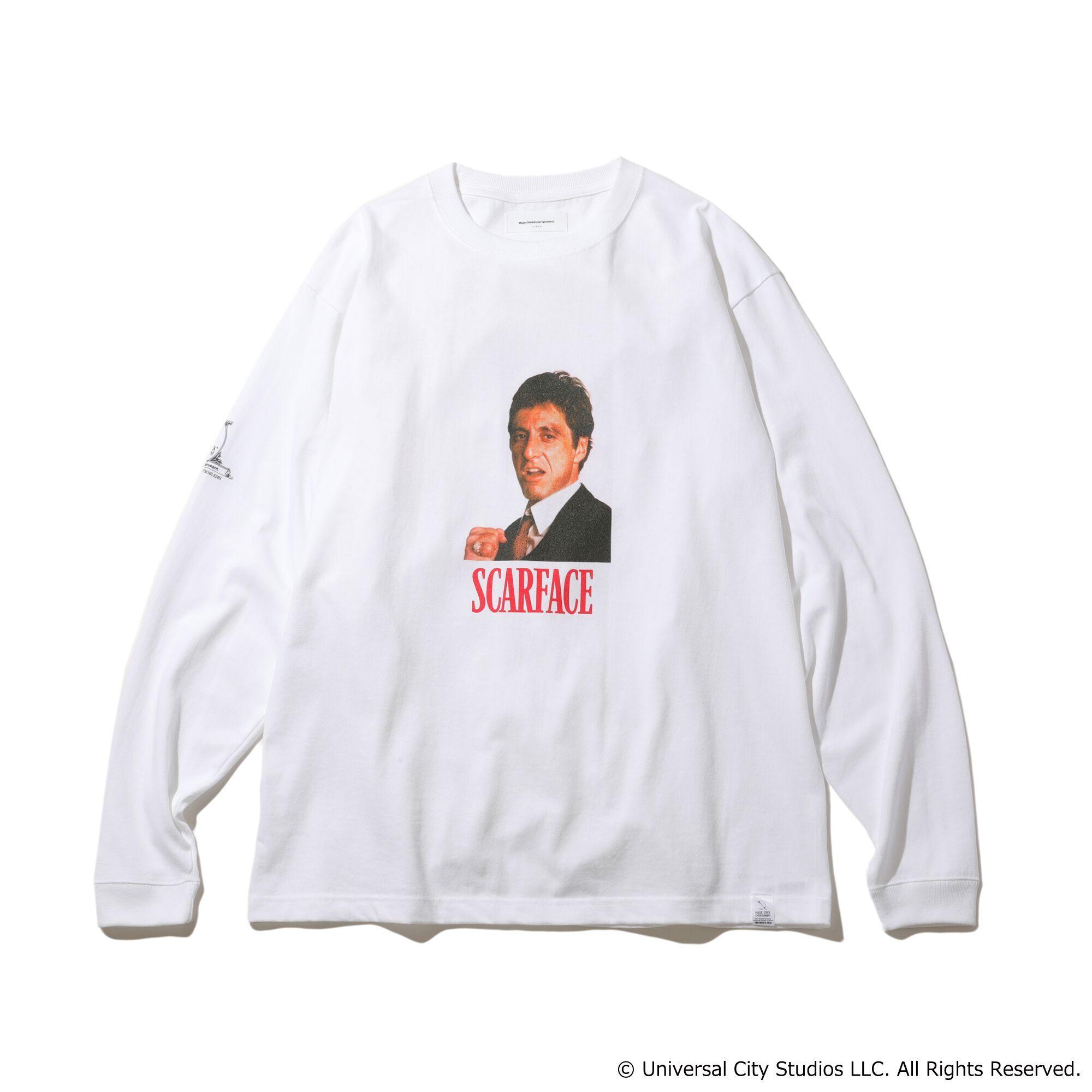 MAGIC STICK × SCARFACE  TM Frame L/S T-Shirts White