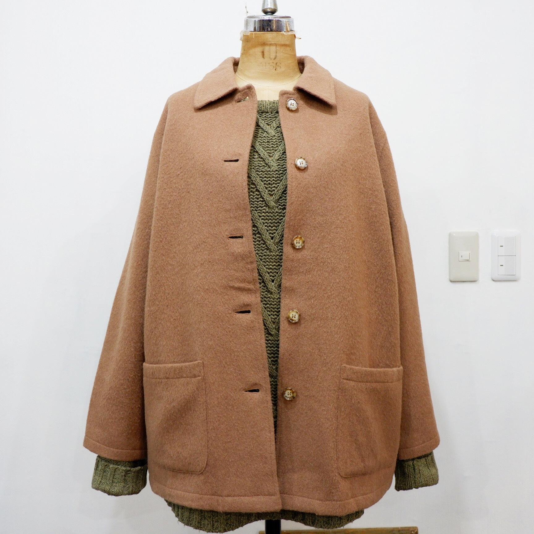 アメリカ古着 キャメル ウール コート