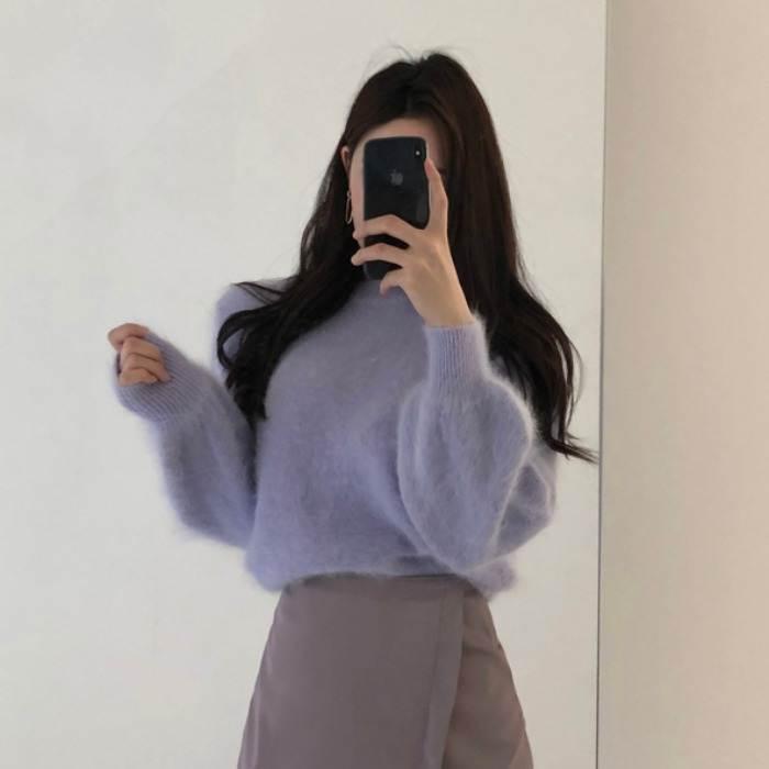 【送料無料 】5カラー ♡ ふわふわ 大人可愛い きれいめ ボリューム袖 ニット セーター トップス