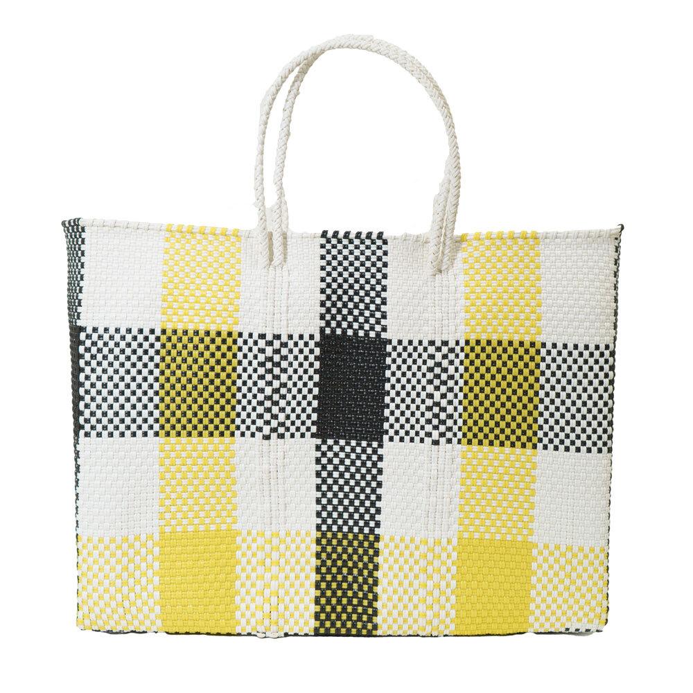 MERCADO BAG 3CHECK - Yellow x White x Black(L)