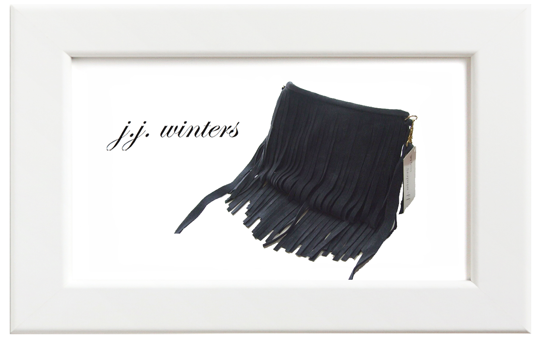 JJ winters/ジェイジェイ・ウィンターズ フリンジミニバッグ/ネイビースウェード
