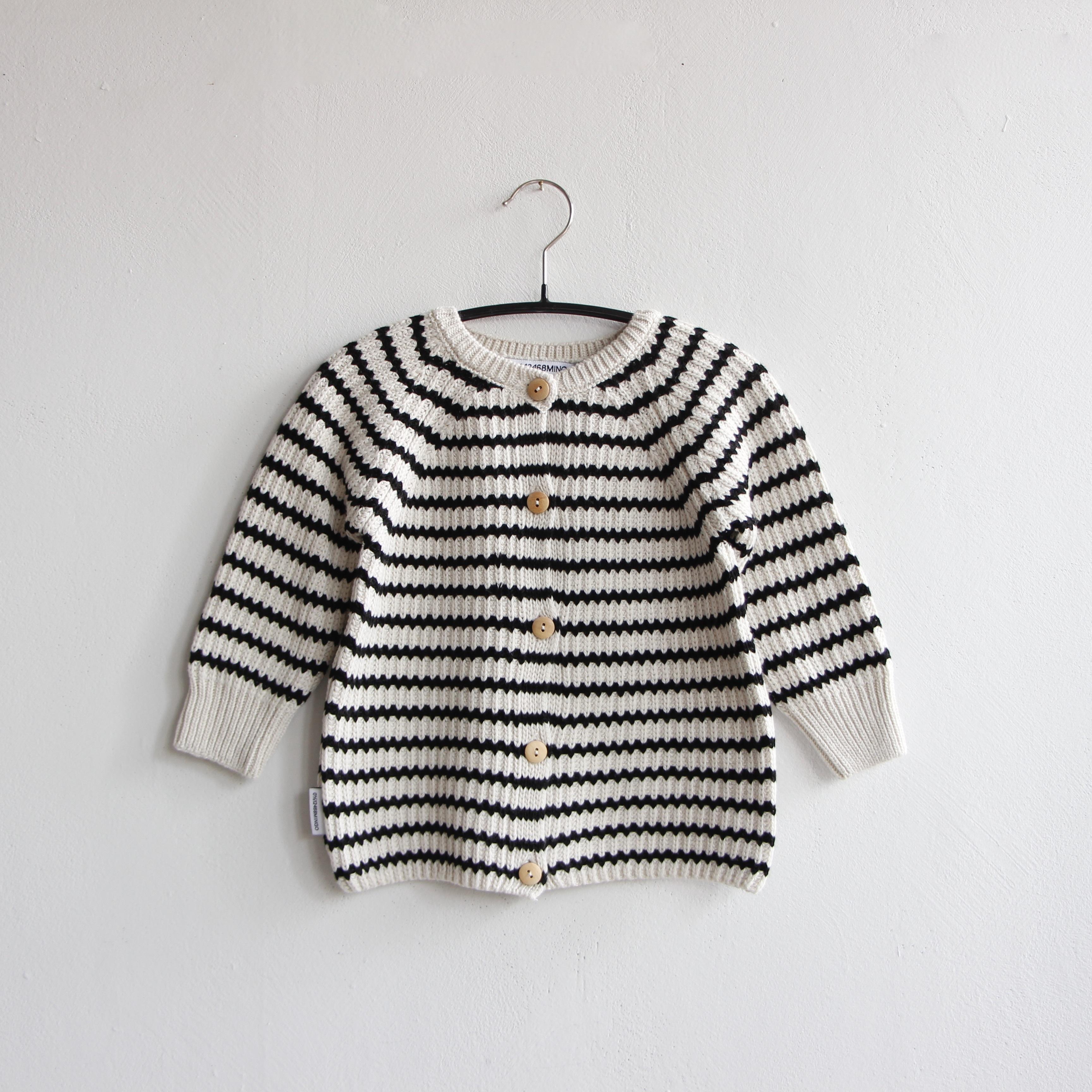 《MINGO. 2020AW》Baby Cardigan / Stripes