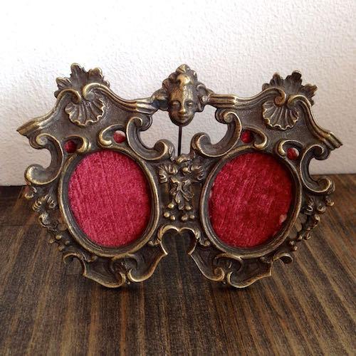 Antique Double Photo Frame