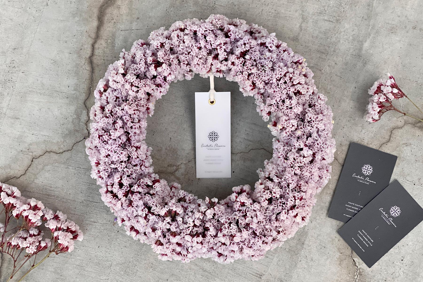 Statice Wreath M | スターチス シンジーシルバー リース