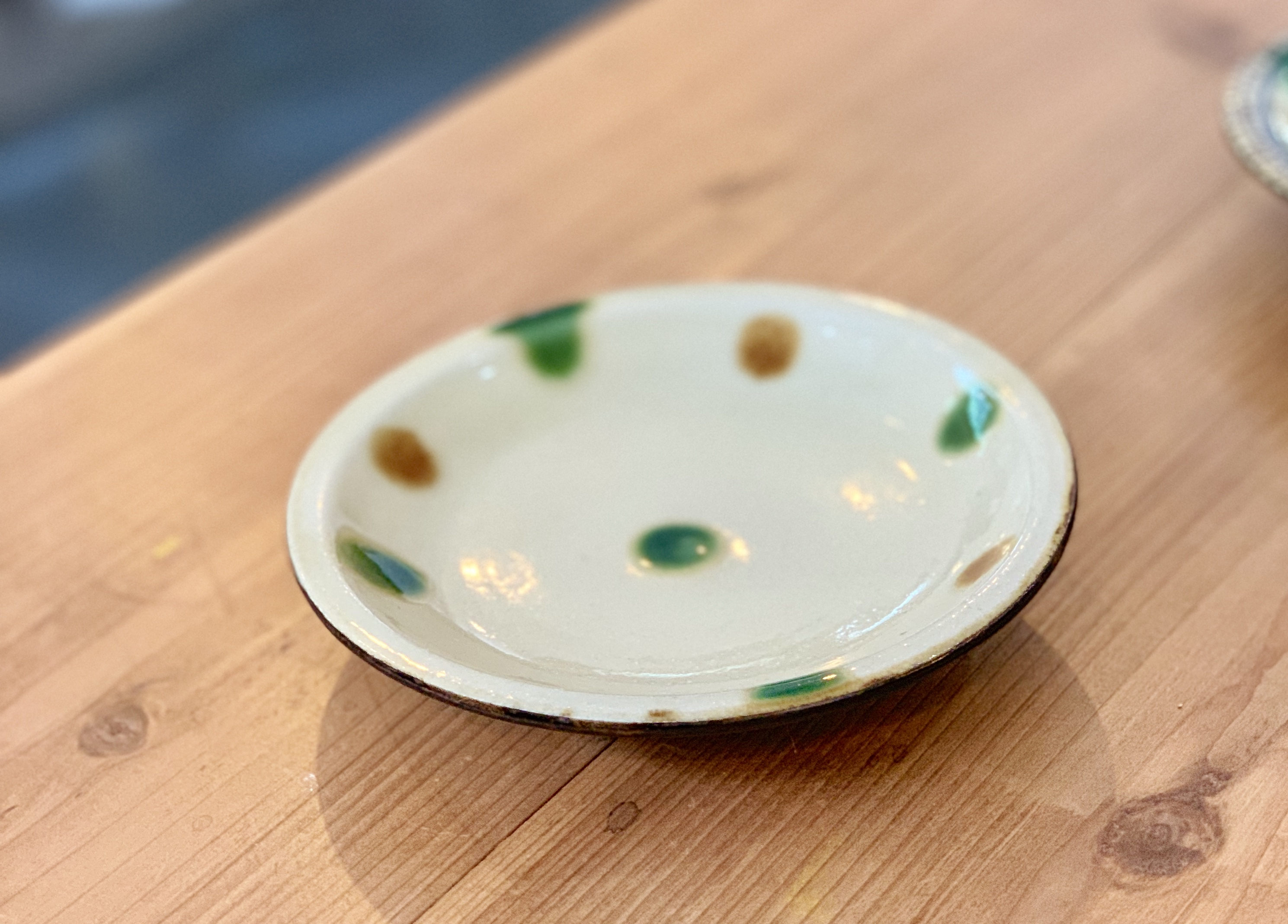 5寸皿 福田陶器 (点打ドット)