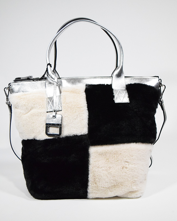 innue 牛革箔加工+エコファートートバッグ