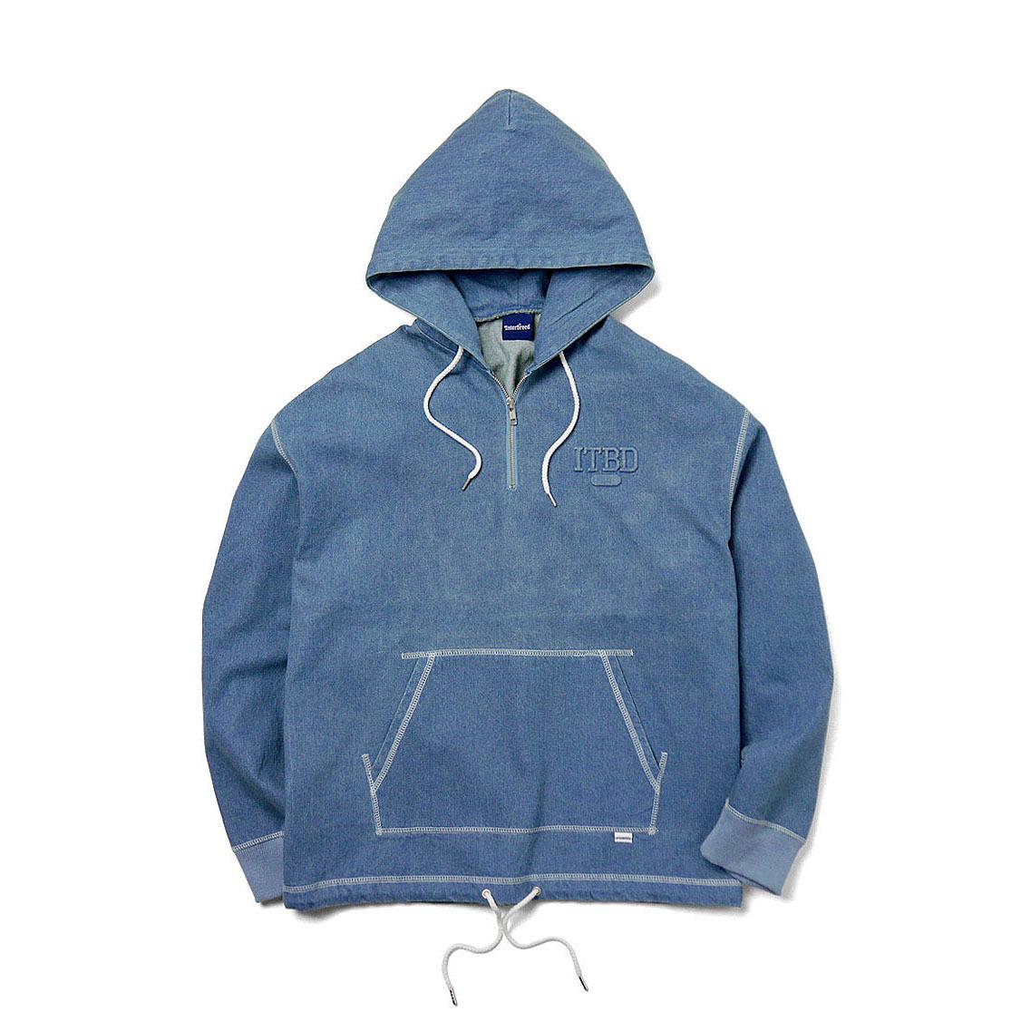 INTERBREED Stitched Denim Hoodie WASH DENIM
