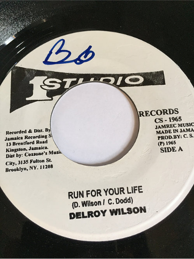 Delroy Wilson(ディロイウィルソン) - Run For Your Life【7'】