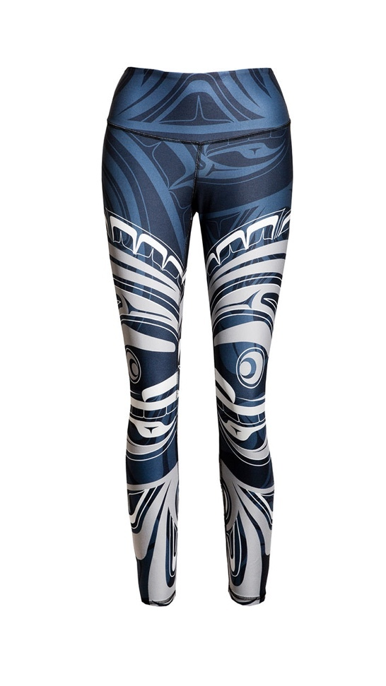 Wolf and Moon Navy Legging