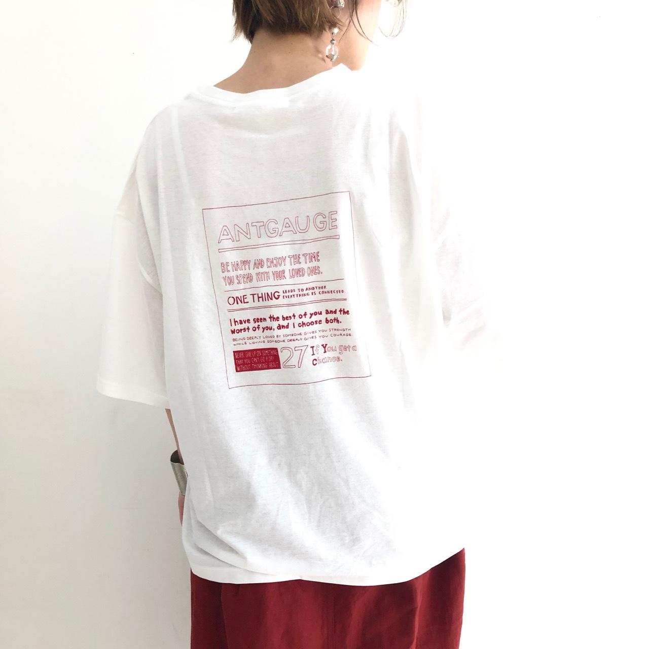 【 ANTGAUGE 】- AB838 - プリントTeeシャツ