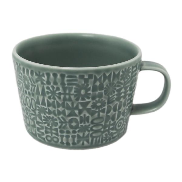 BIRDS' WORDS Patterned Mug squall gray