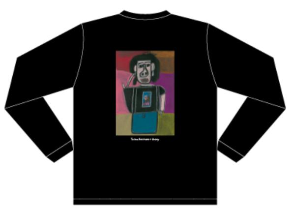 【Yuriyan Retriever × Ackey】ロングスリーブTシャツ ブラック