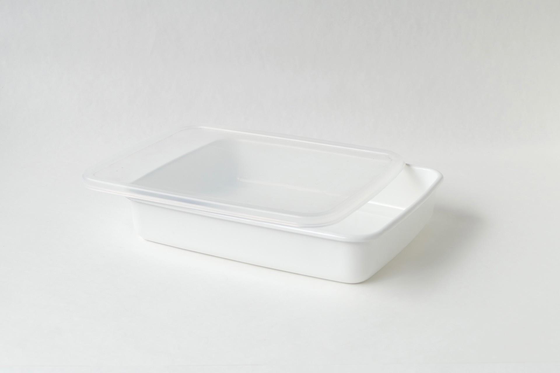 野田琺瑯 レクタングル浅型L シール蓋つき