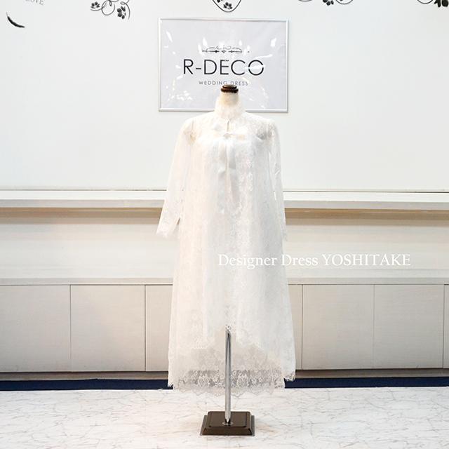 【オーダー制作】ウエディングドレス 2WAY膝丈&フィッシュテイルドレス 前撮り/二次会 ※制作期間3週間から6週間