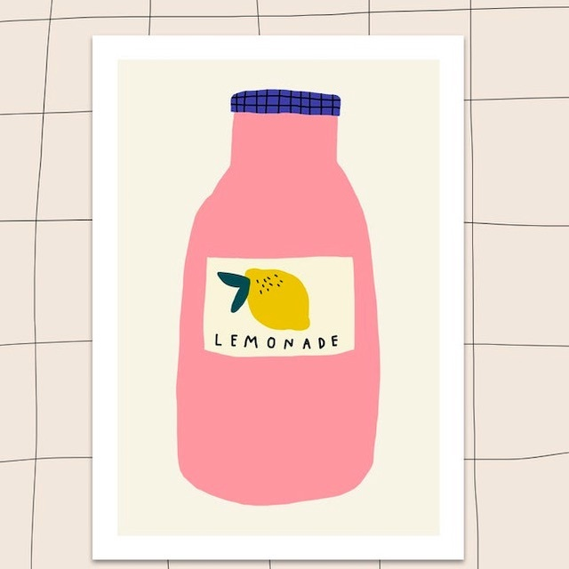 "Jennifer Bouron ""Lemonade"" A5 print"