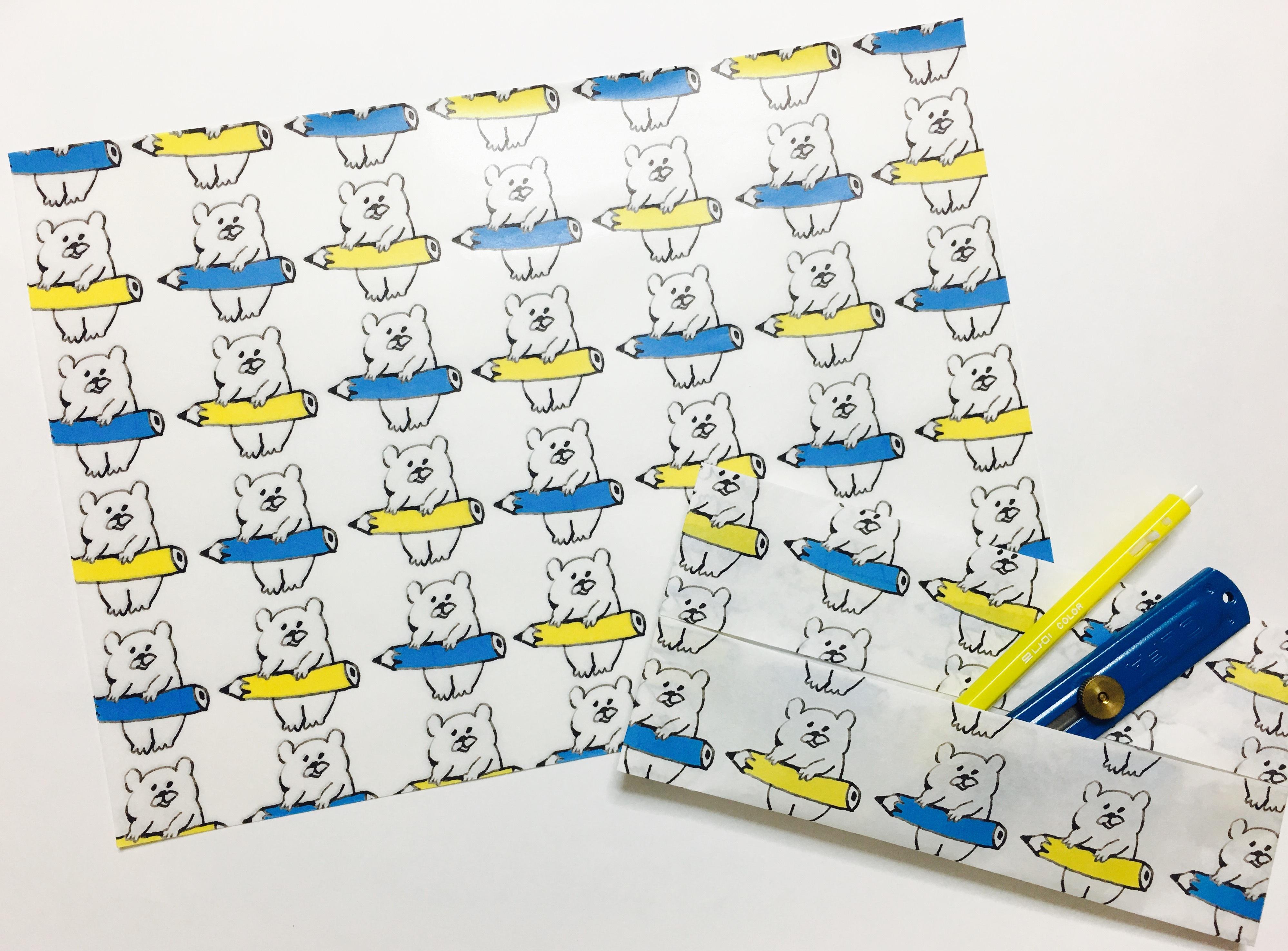BB BEAR PAPER _ pencil set