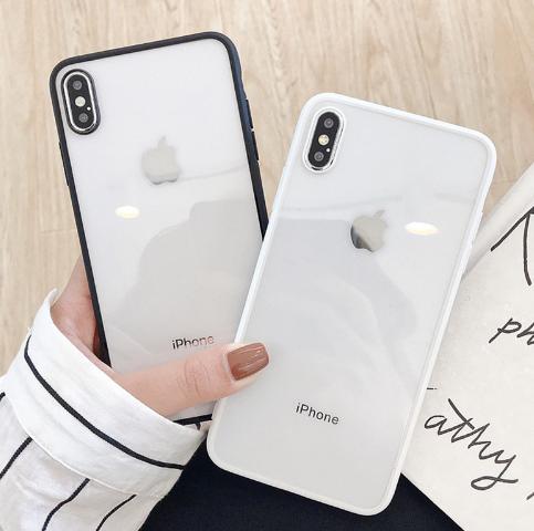 【お取り寄せ商品、送料無料】3色 モノトーン クリア ソフト iPhoneケース