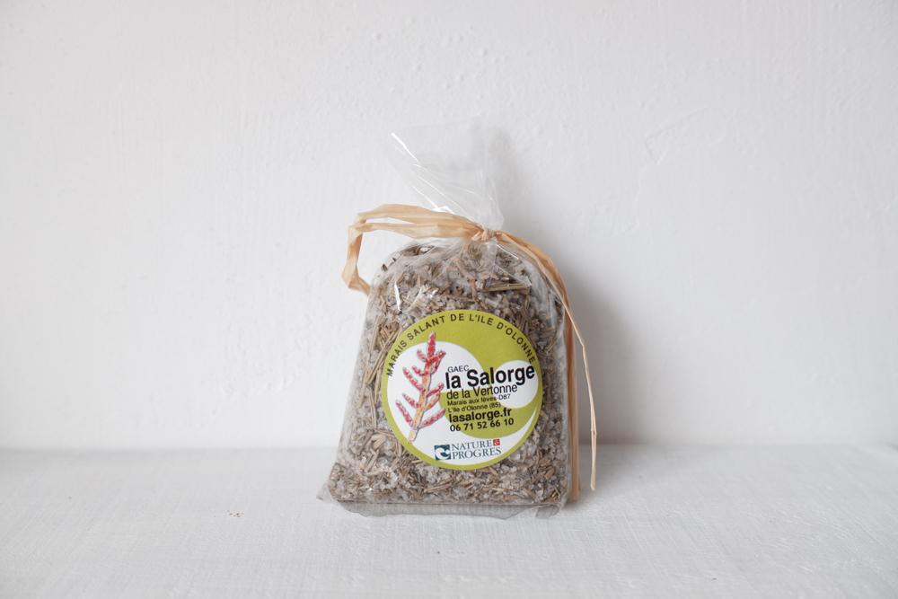 LLa Salorge de la Vertonne ハーブ入り海塩( 塩の花 ) タイム&ローズマリー 45g