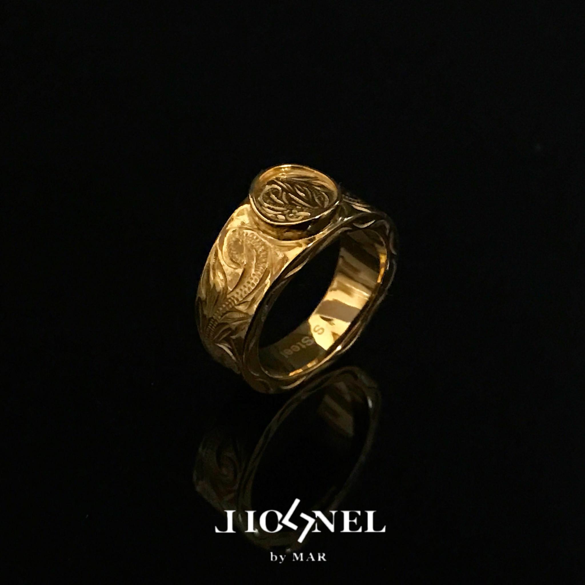 24kgp Hawaiian jewelry ring(coin)