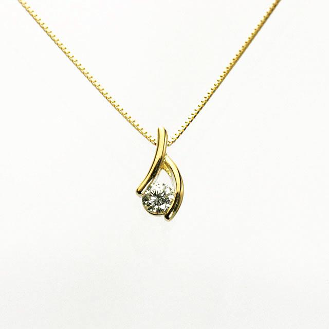 ダイヤモンドペンダント 0.2ゴールド 挟み込み