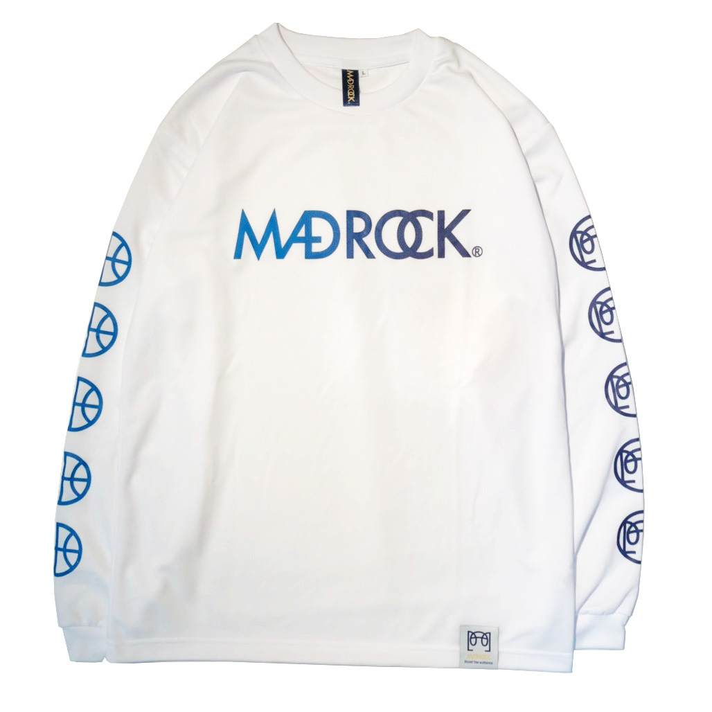 マッドロック / グラデーション ロンT / ドライタイプ / ホワイト