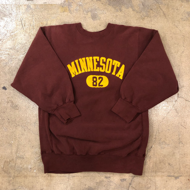 80's Champion R/W Minnesota Sweat ¥7,900+tax