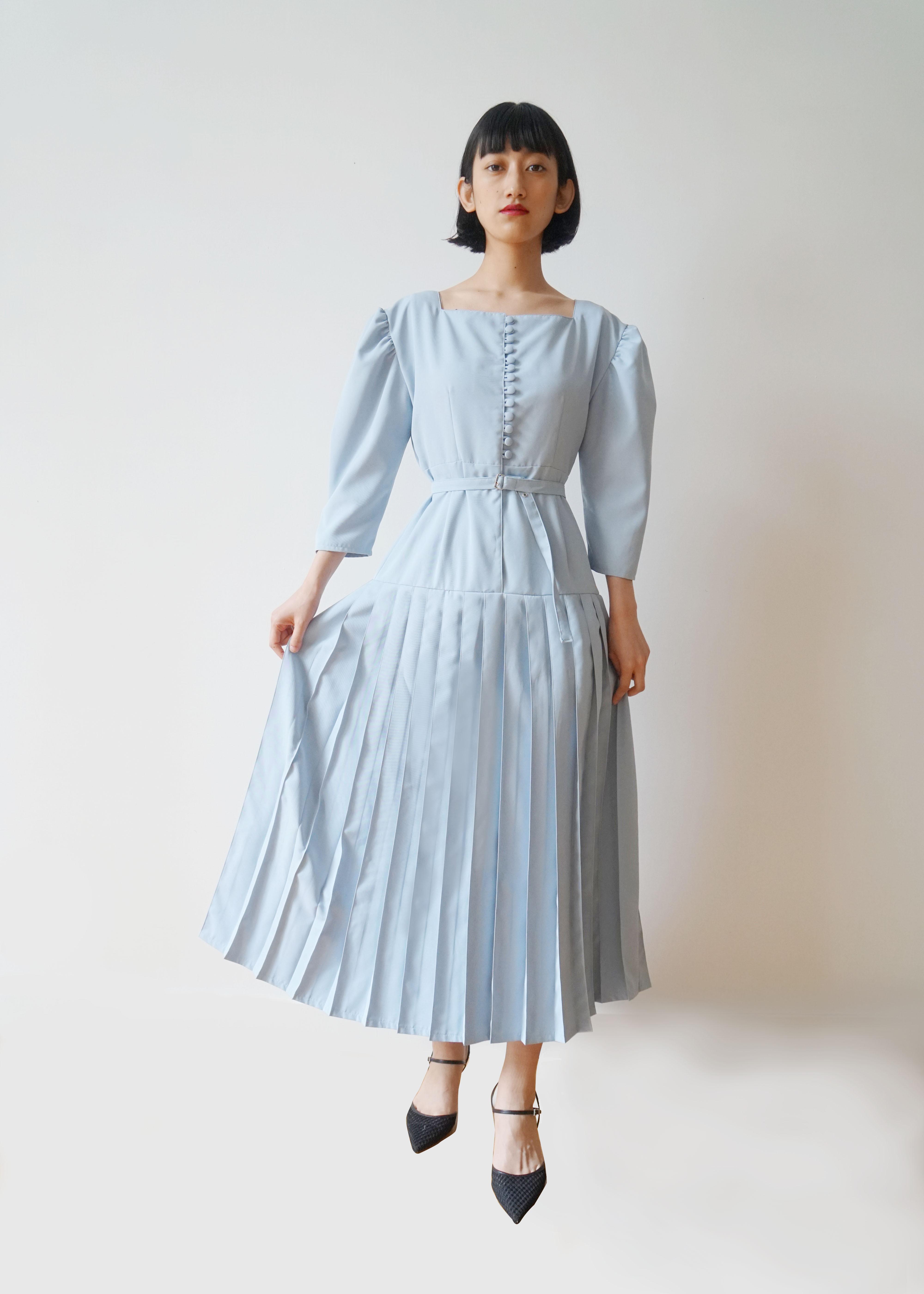 IAPETUS PLEATS DRESS / Blue