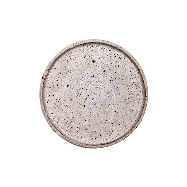 若狹祐介 フチタチ皿15cm 白砂