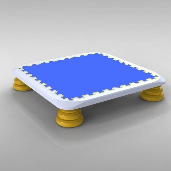 バンバンボード(青色)子供用やわらかスプリング 安全 で 音が響きにくい 人気 の 室内・家庭用 の おすすめトランポリン Blue-S プレゼント