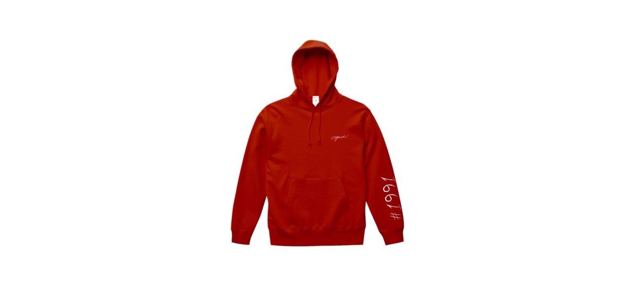 1991 logo hoodie (RED)