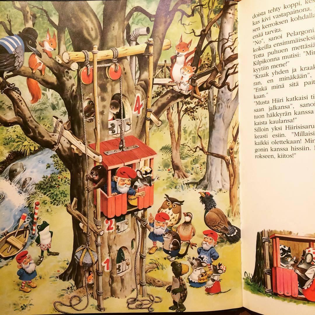 トニー・ウルフのノーム絵本「Mettaset ja tontut(storie del bosco e di gnomi)/Tony Wolf」 - 画像2