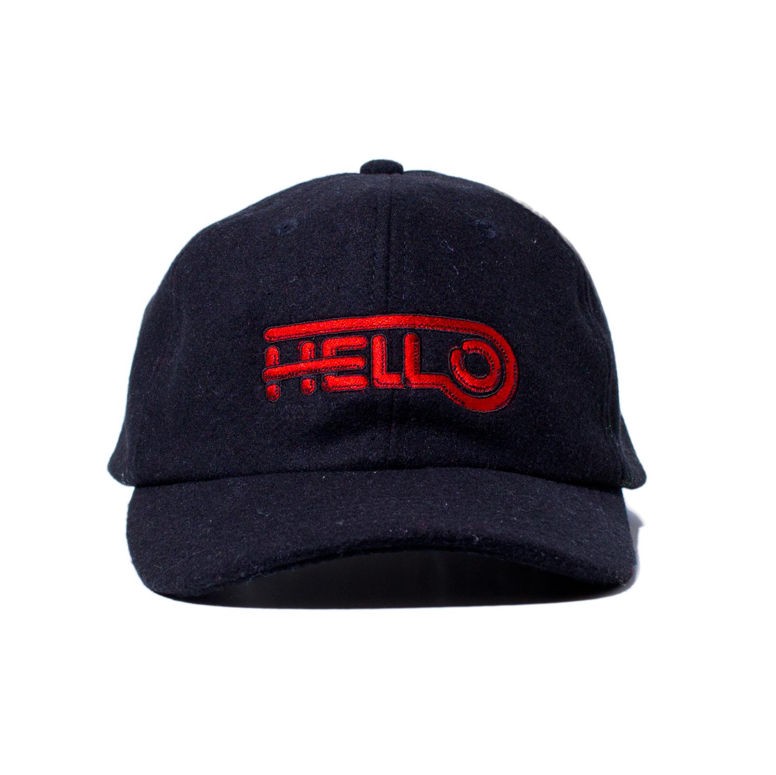 HELLO WOOL BB CAP #BLACK