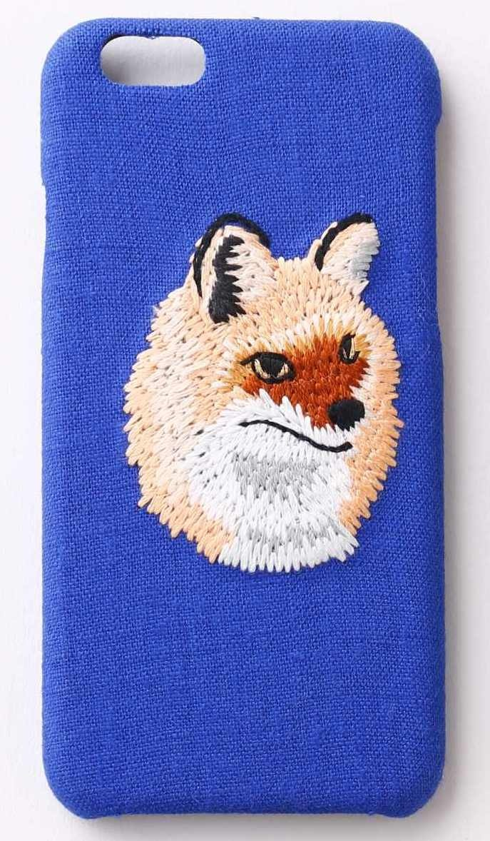 【iPhone7専用】刺繍iPhone7ケース キツネ