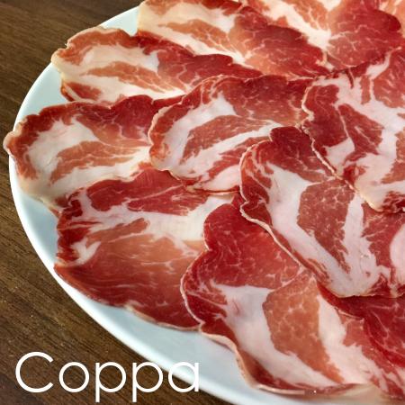 イタリア産コッパ(豚肩肉の生ハム)100gスライスパック