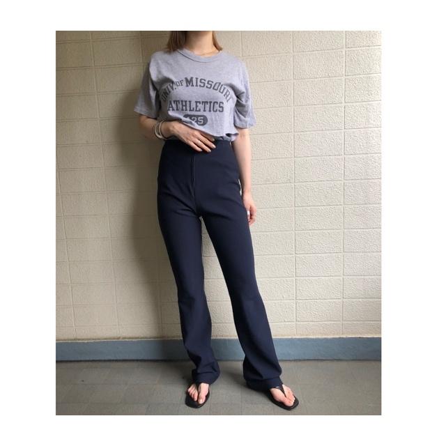 high-waist flare pants