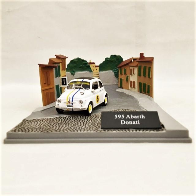 Fiat ABARTH 595 Diorama 1/43【CANENCO】【1個のみ】【税込価格】