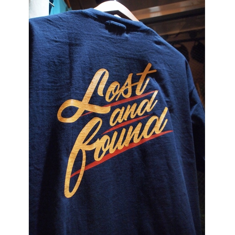 "【LOST AND FOUND】""BACK PRINT"" Vintage Pocket  BIG T-shirt (NAVY)"