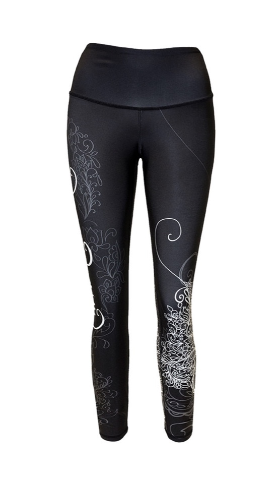 Shabeena Black and White Legging