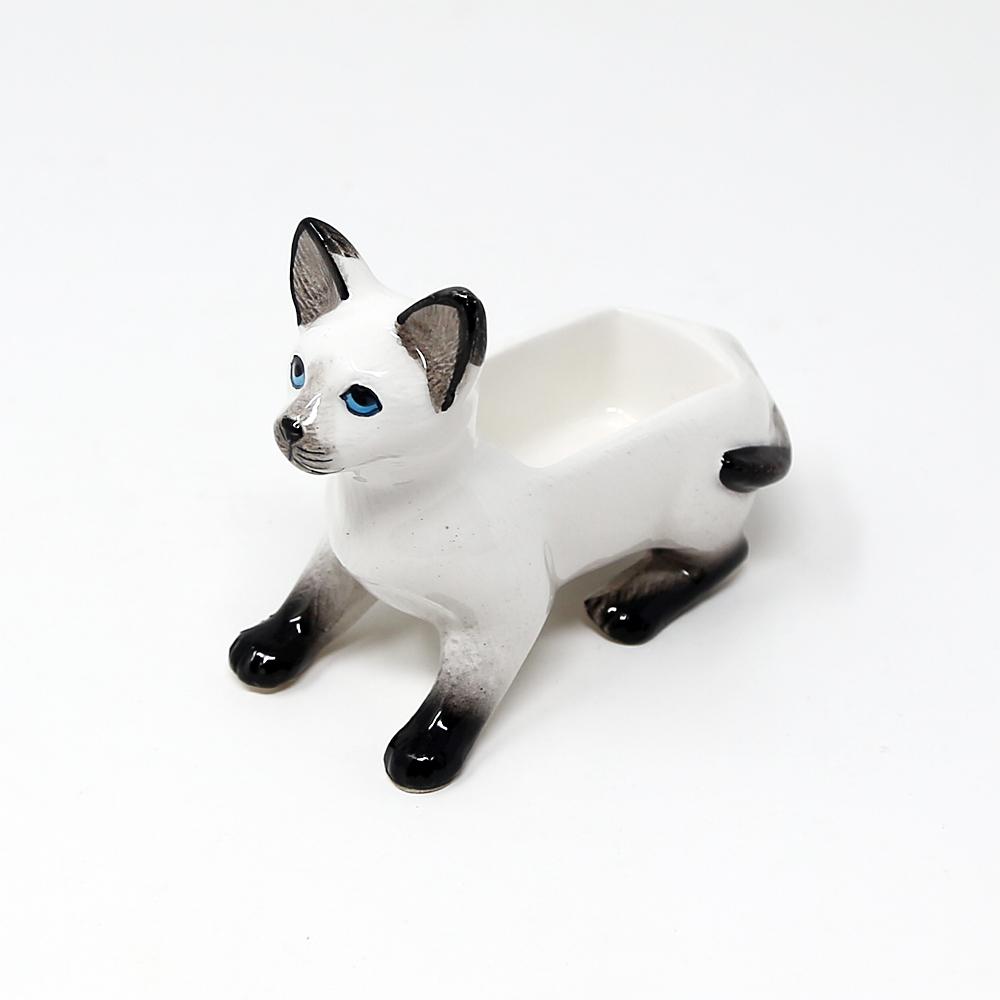 猫ジュエリーホルダー(アニマルジュエリーホルダー)シャムネコ