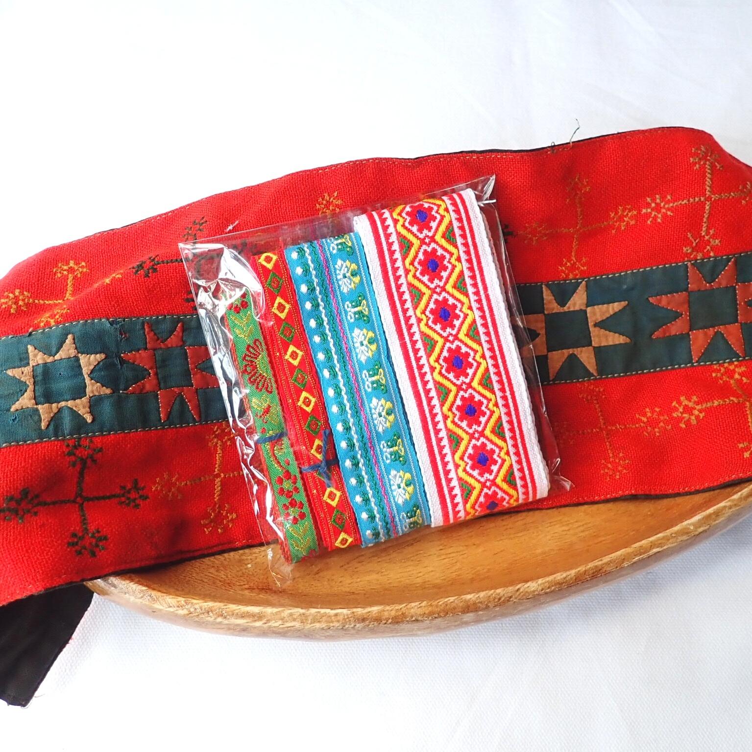 チェンマイ モン族刺繍テープセット *2*