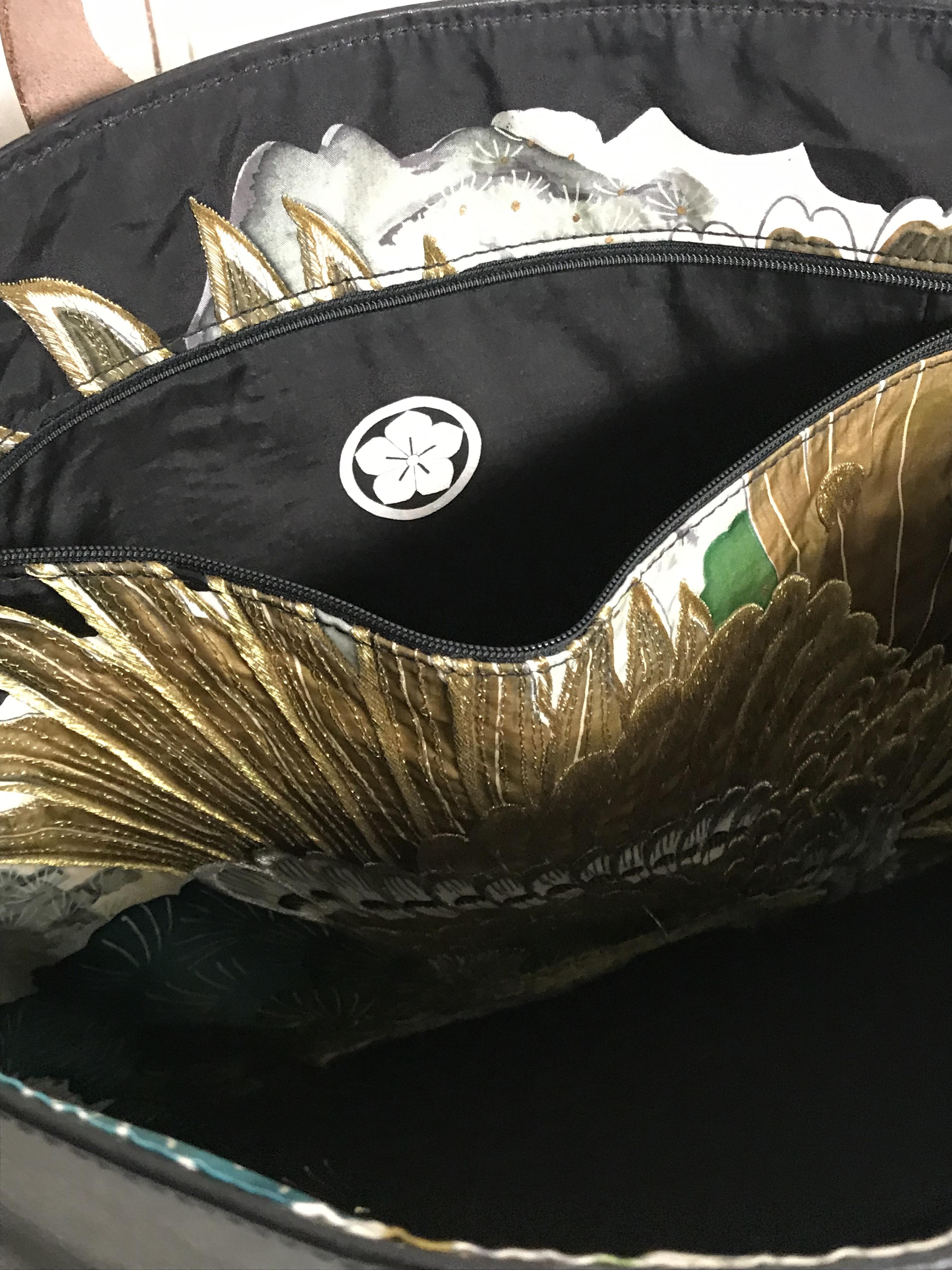 black レザーバッグ  / eagle gold