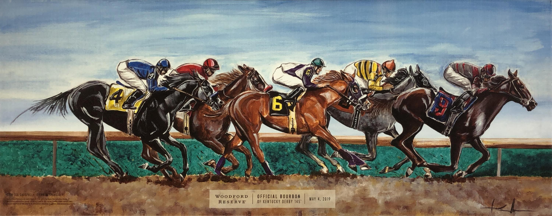 品番0016 アート 『WOODFORD RESERVE(ウッドフォード リザーブ)』 壁掛 ウイスキー 絵画 ディスプレイ アメリカン雑貨