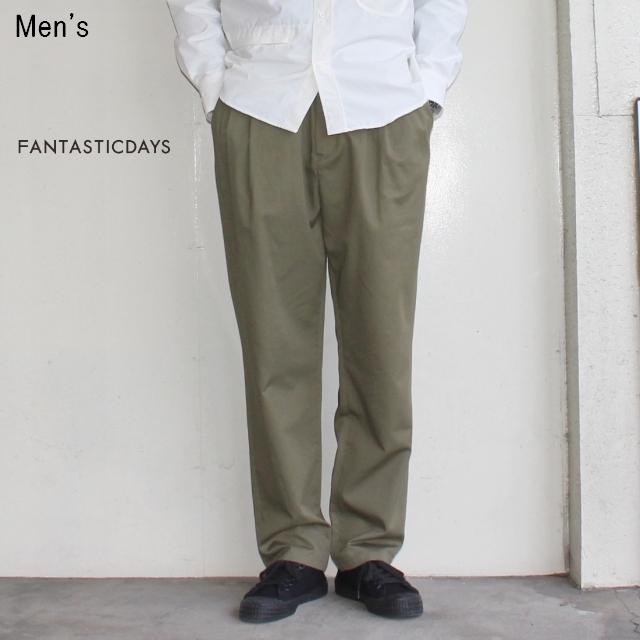 FANTASTICDAYS タックイージートラウザー PLEATS-M-81-01 (KHAKI)