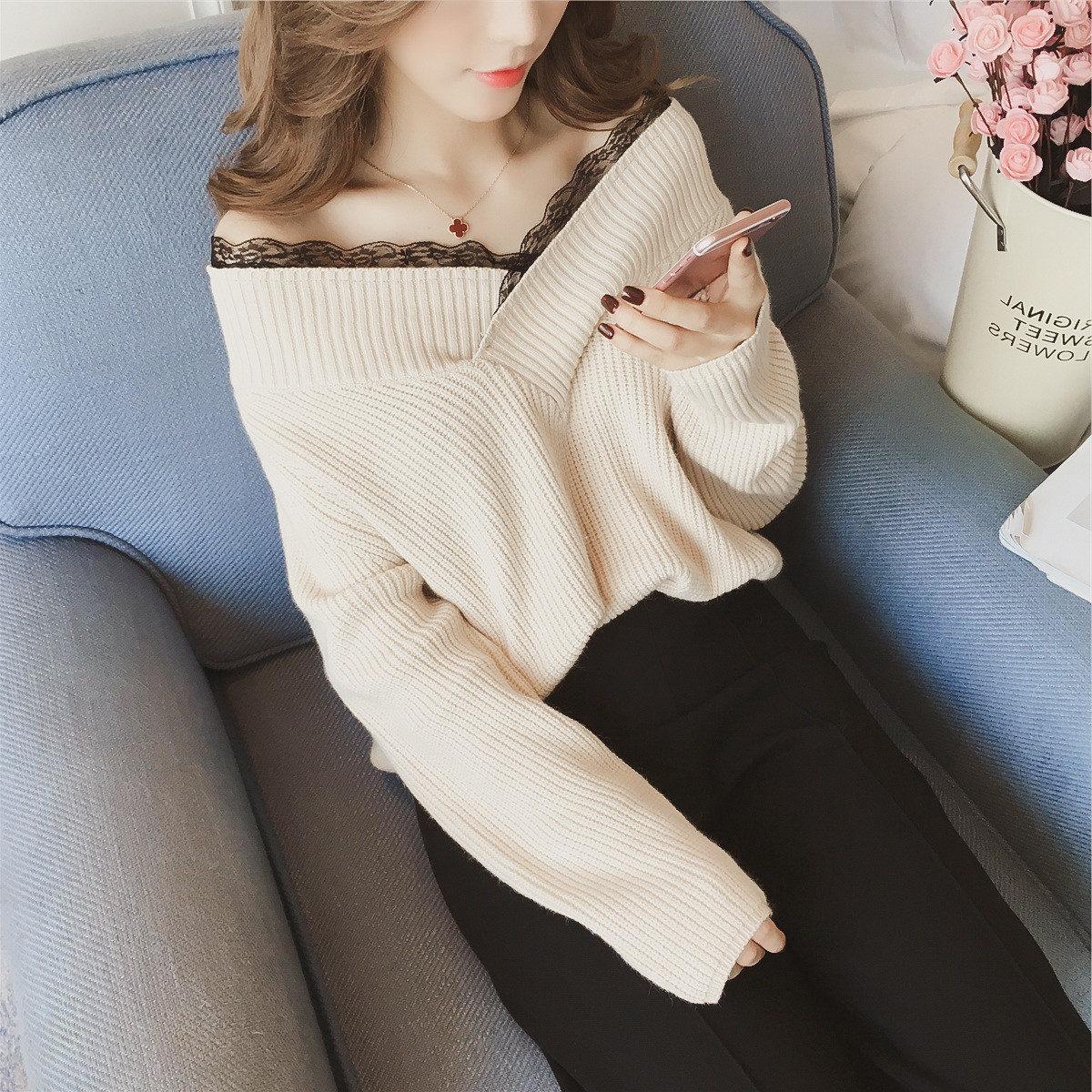 【tops】ファッション配色プルオーバーカットソー22812135