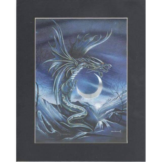 【アルミ彫刻画】月とドラゴン[a336]