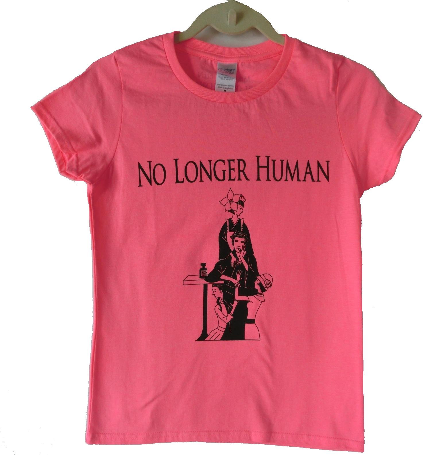 太宰治TシャツB レディーズサイズ 色:ピンク
