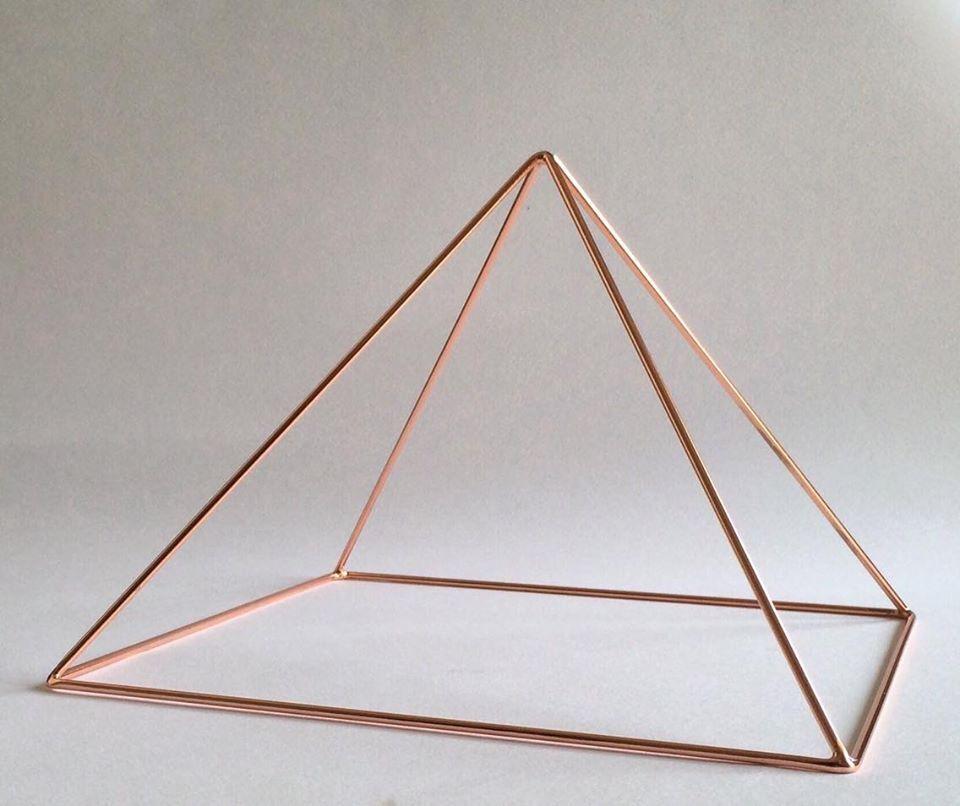 メディテーション 瞑想 ピラミッド 銅製 (頭用)