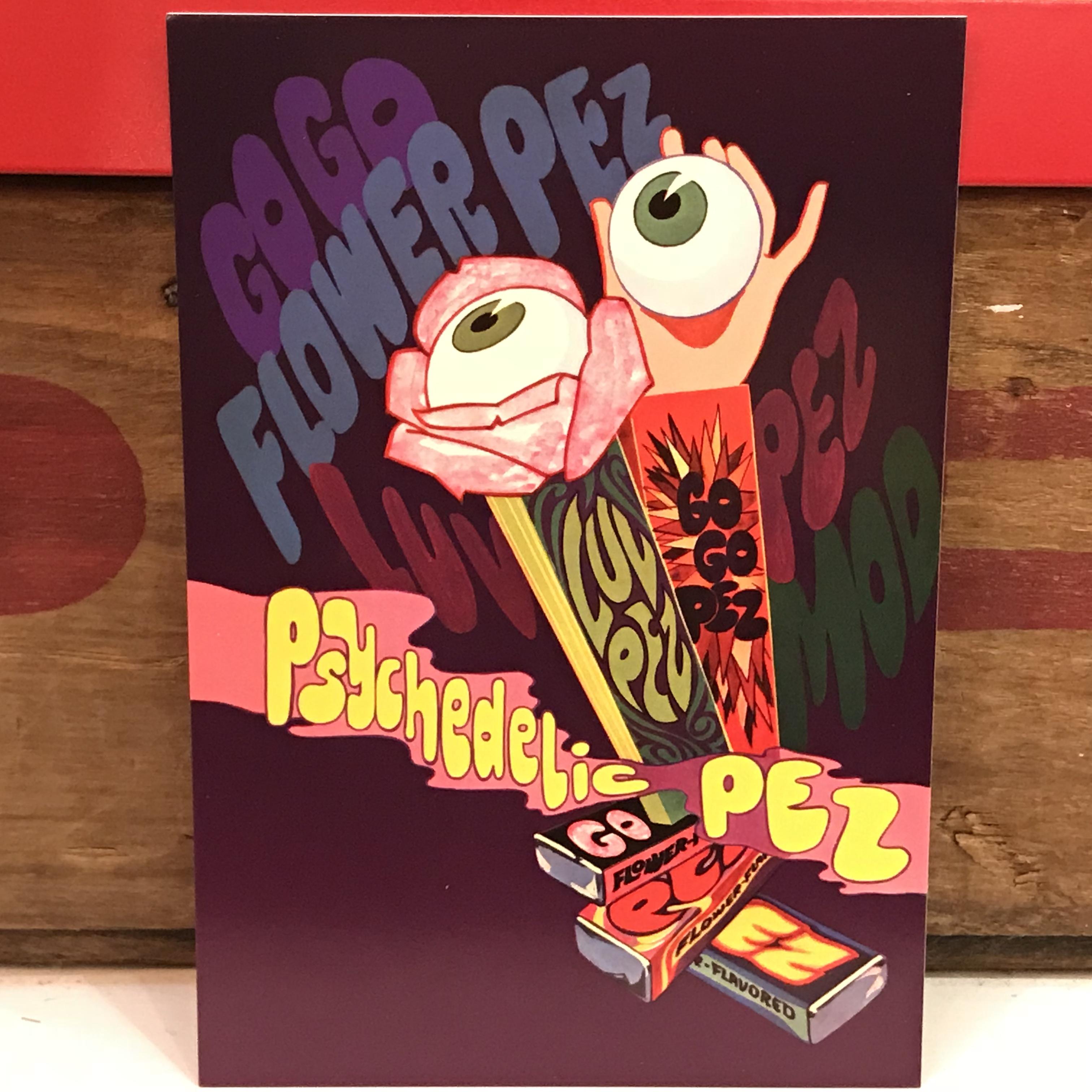 PEZ ペッツ ポストカード (厚紙仕様) サイケデリックアイ U.S.A.製 2003年